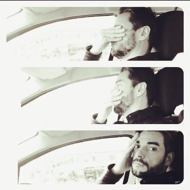 Claudio Ramos no carro