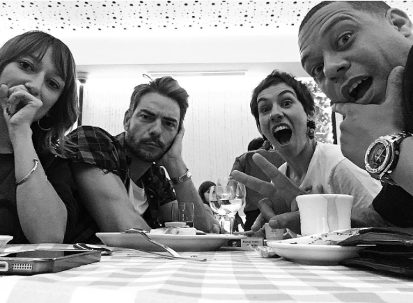 Claudio Ramos Marta Bateira Carlao e Ana Markl a jantar