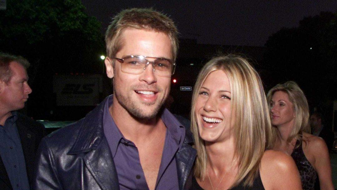 Retrato de Jennifer Aniston e Brad Pitt