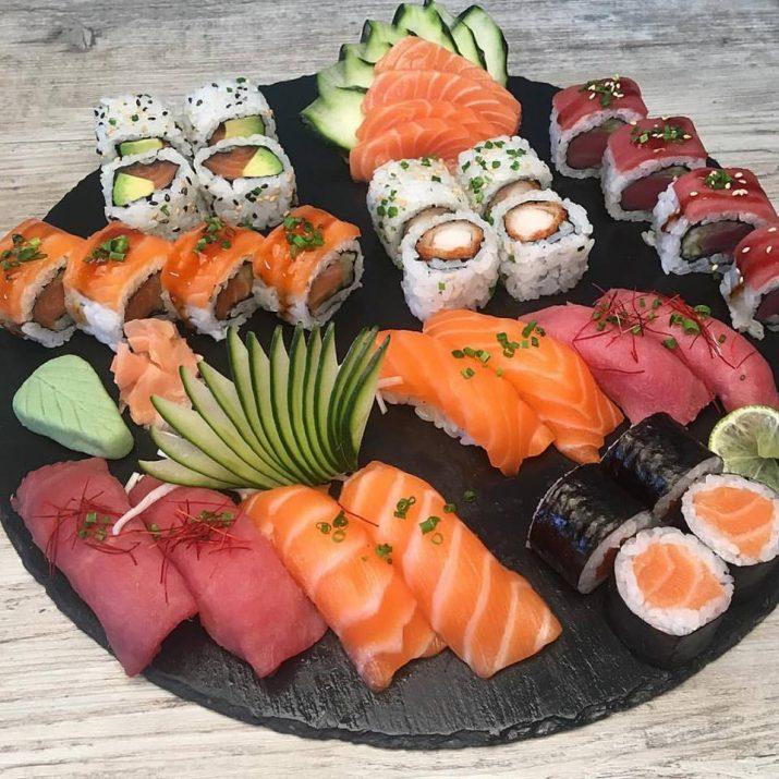 Prato de sushi do Sushi At Home