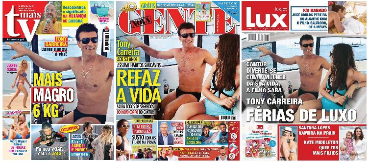 Revistas com Tony Carreira na capa