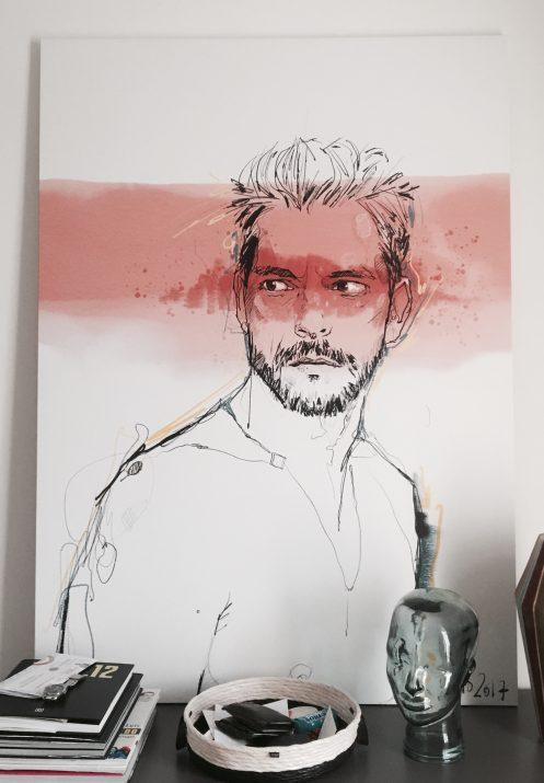 retrato de Cláudio Ramos