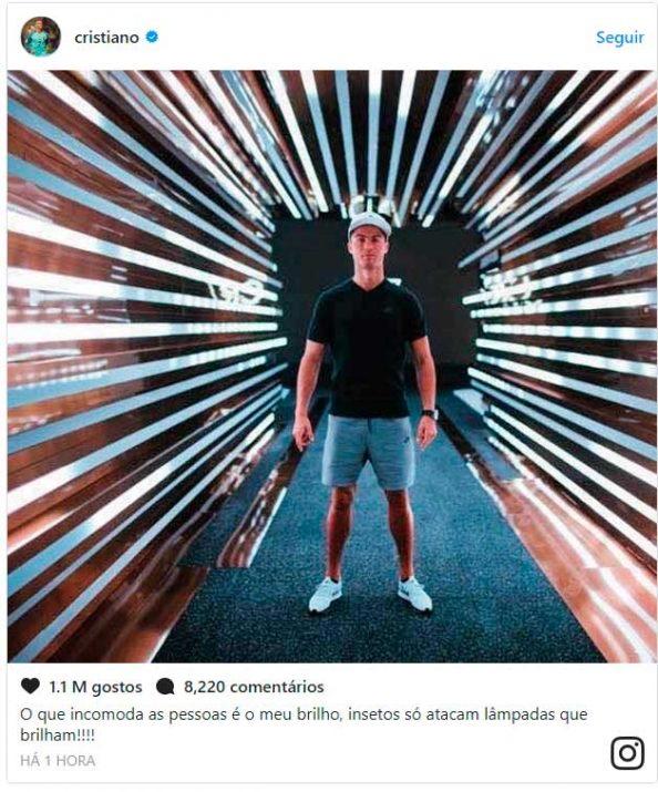 Publicaçao de Cristiano Ronaldo no Instagram