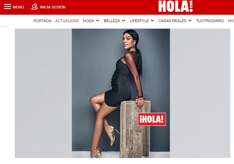 Georgina Rodriguez posa na capa da Hola