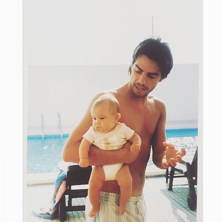 Claudio Ramos com filha Leonor