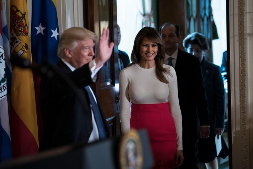 Melania Trump em visita oficial